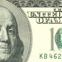 close-up of $100 bill