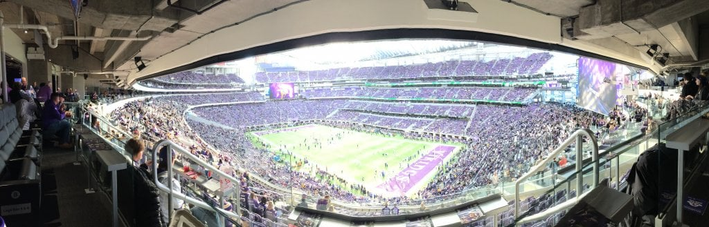 US Bank Stadium Club Purple Panorama