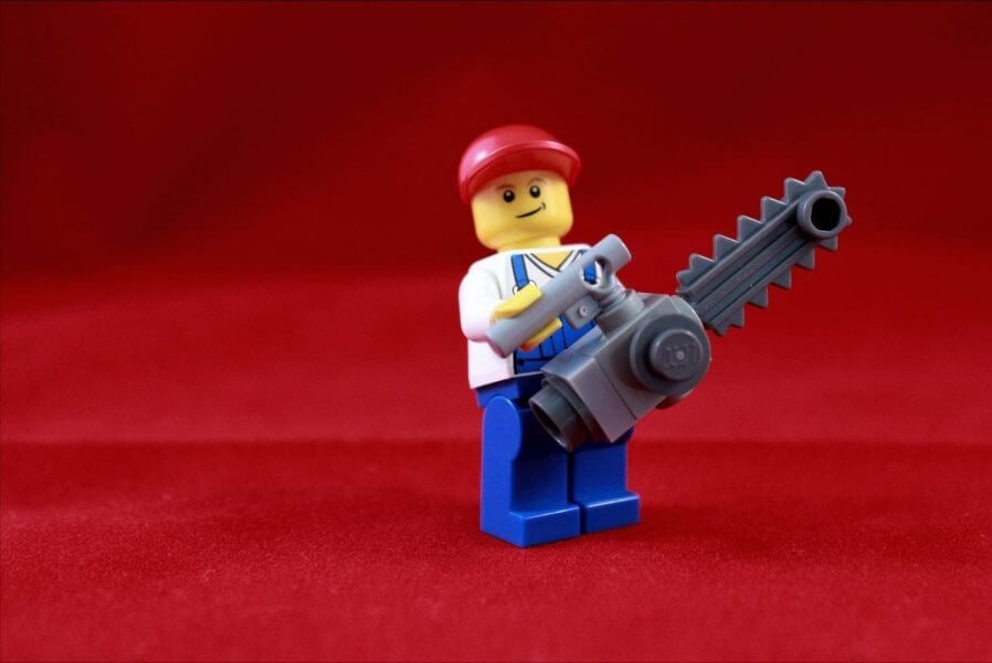 Lego Chainsaw Guy