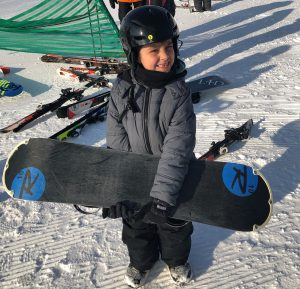 edwin bailey, first snowboard lesson